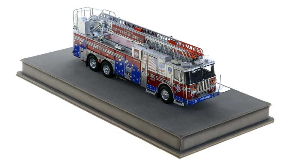 #FDNY150 Ferrara Rear Mount scale model in 1:50 scale.