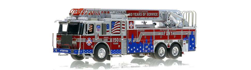 #FDNY150 is a museum grade commemorative to 150 years of service