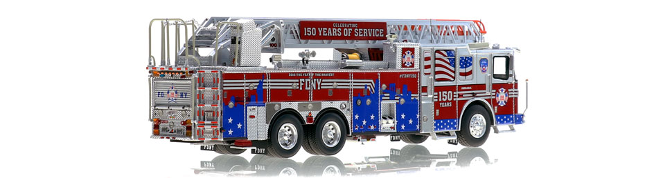 FDNY's Anniversary ladder features precise details