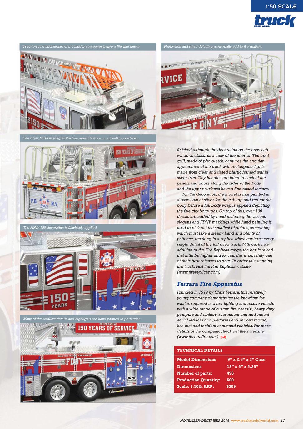 #FDNY150 as seen in Truck Model World, U.K. - page 2