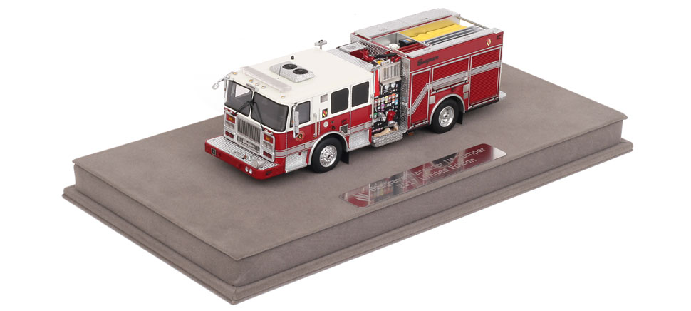Includes a fully custom display case with nameplate.