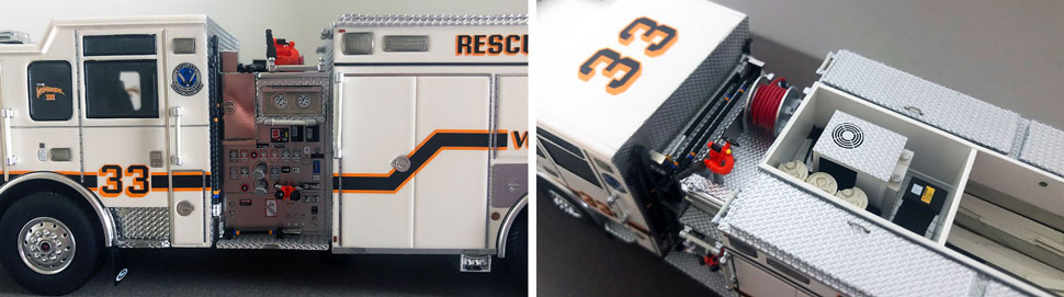 Closeup pictures 3-4 of Kentland Rescue Engine 33 scale model