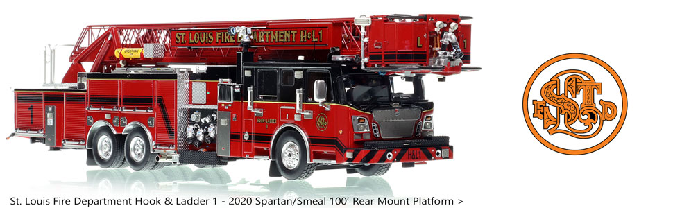 Order your St. Louis Spartan-Smeal Hook & Ladder 1 today!