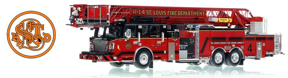 St. Louis Spartan/Smeal Hook & Ladder 4 scale model