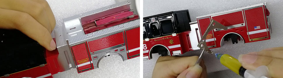 Assembly pics 9-10 of Chicago Spartan Engine scale model