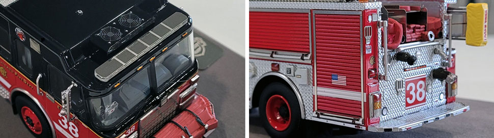 Closeup Pics 7-8 of Chicago Fire Department Spartan Engine 38 scale model