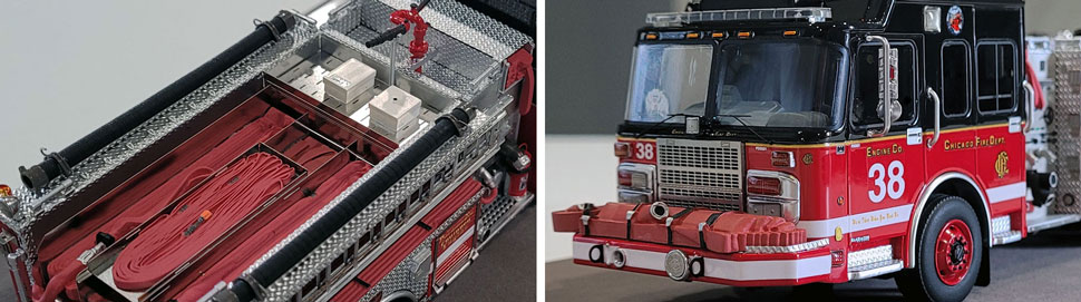 Closeup Pics 1-2 of Chicago Fire Department Spartan Engine 38 scale model