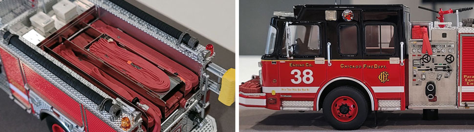 Closeup Pics 9-10 of Chicago Fire Department Spartan Engine 38 scale model