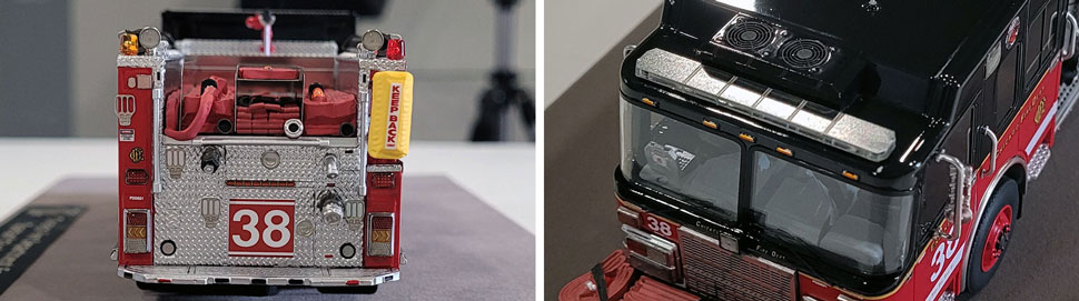 Closeup Pics 3-4 of Chicago Fire Department Spartan Engine 38 scale model