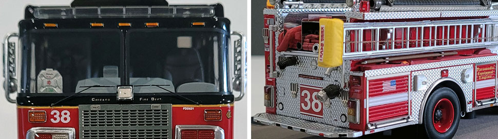 Closeup Pics 11-12 of Chicago Fire Department Spartan Engine 38 scale model