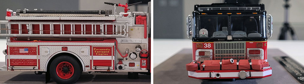 Closeup Pics 5-6 of Chicago Fire Department Spartan Engine 38 scale model