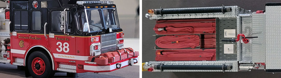 Closeup Pics 13-14 of Chicago Fire Department Spartan Engine 38 scale model