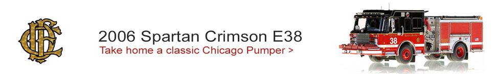 Chicago Fire Department Spartan Crimson Engine 38 scale model