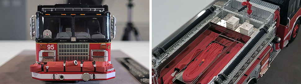 Closeup pics 5-6 of Chicago Fire Department Spartan Engine 95 scale model