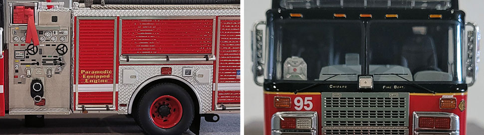 Closeup pics 11-12 of Chicago Fire Department Spartan Engine 95 scale model