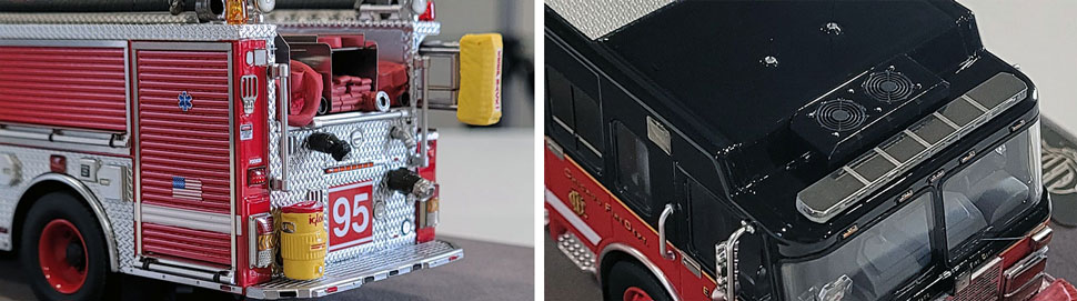 Closeup pics 13-14 of Chicago Fire Department Spartan Engine 95 scale model
