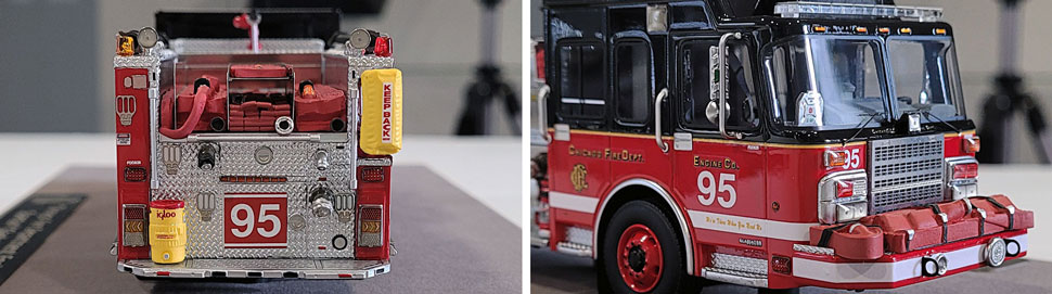 Closeup pics 7-8 of Chicago Fire Department Spartan Engine 95 scale model