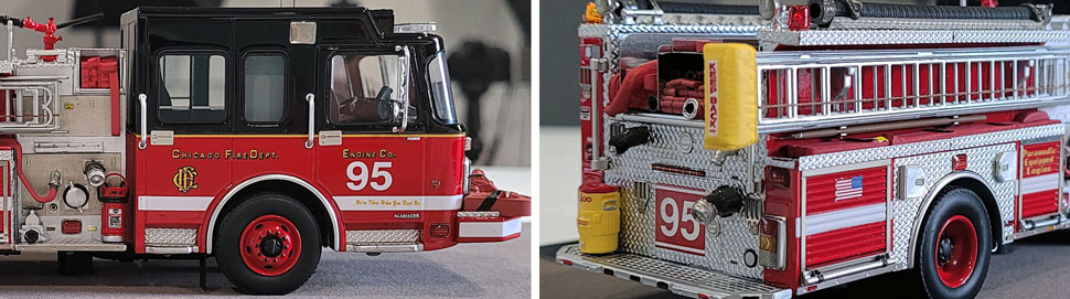 Closeup pics 3-4 of Chicago Fire Department Spartan Engine 95 scale model