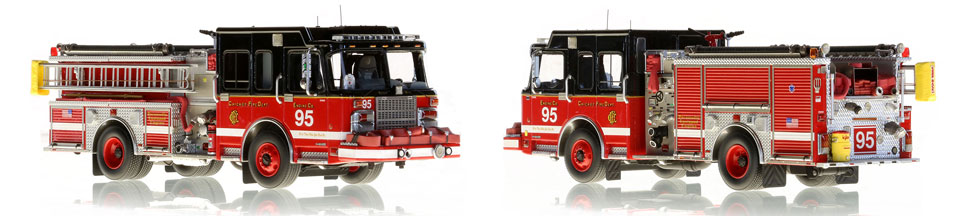 The first museum grade scale model of Chicago Engine 95