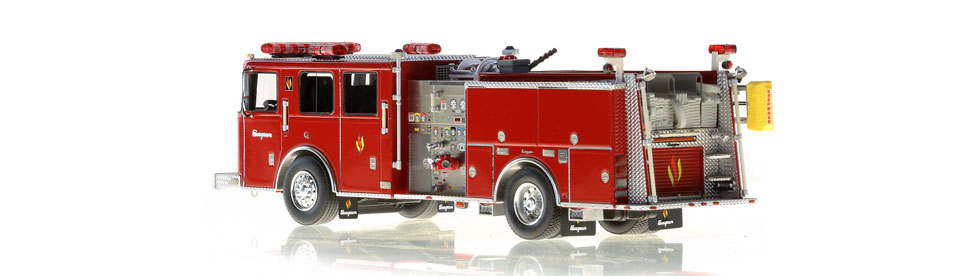 Seagrave Commander II scale model is hand-crafted