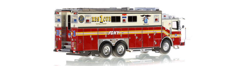 Authentic to FDNY Rescue 1 Ferrara Heavy Rescue