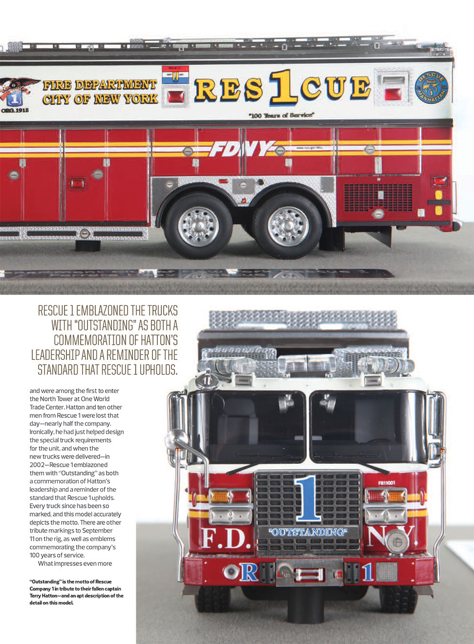 FDNY Rescue 1 article in Diecast X magazine page 2