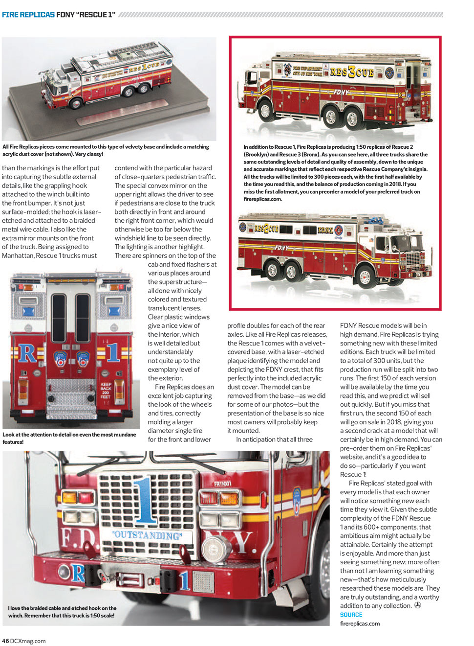 FDNY Rescue 1 article in Diecast X magazine page 3