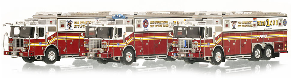 Only a limited number of FDNY Rescue 3-Piece set are available