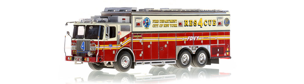 The first museum grade scale model of FDNY Rescue 4