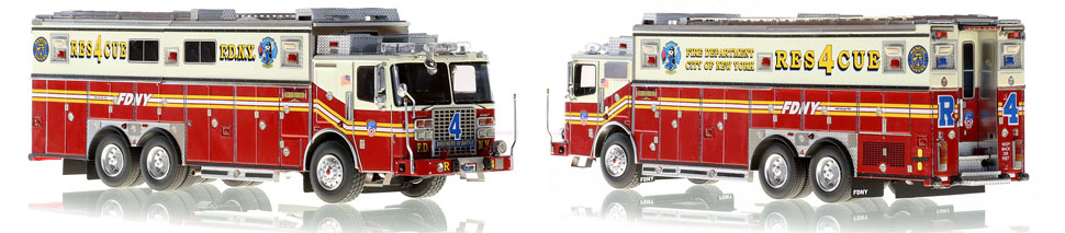 FDNY Ferrara Rescue 4 is hand-crafted, limited in production and includes a custom case