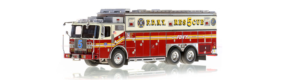 The first museum grade scale model of FDNY Rescue 5