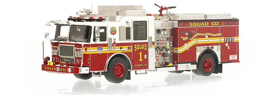 The one and only museum grade FDNY Squad 1 scale model