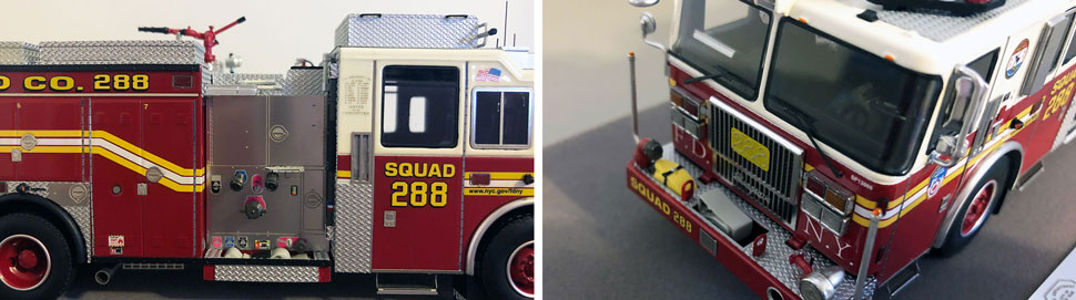 Close up pics 5-6 of FDNY Seagrave Squad 288 scale model