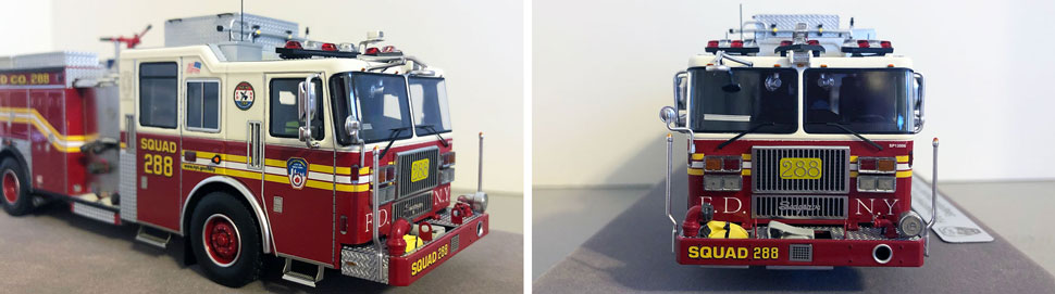 Close up pics 9-10 of FDNY Seagrave Squad 288 scale model