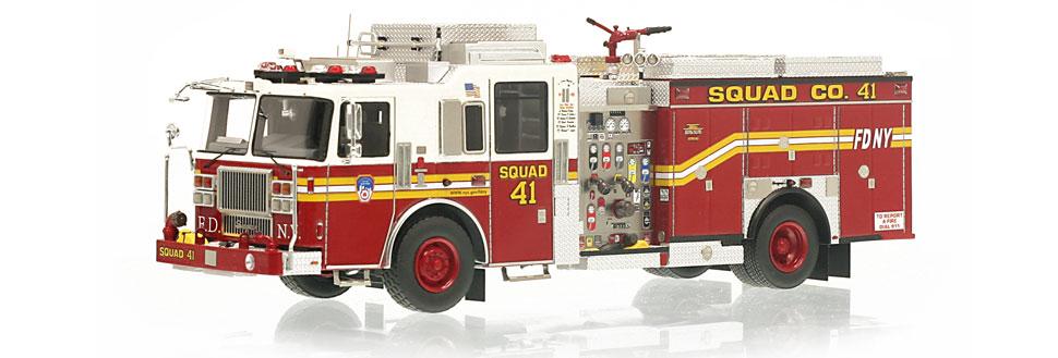 Bronx-Harlem's museum grade FDNY Squad 41 scale model