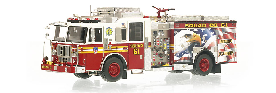 The only museum grade FDNY Squad 61 scale model
