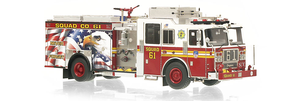 FDNY Squad 61 replica features razor sharp accuracy