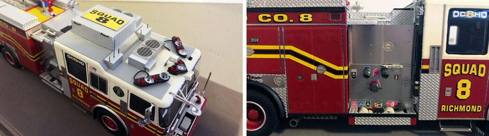 Close up pics 3-4 of FDNY Seagrave Squad 8 scale model