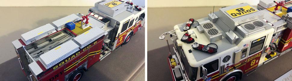 Close up pics 1-2 of FDNY Seagrave Squad 8 scale model