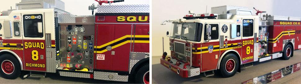 Close up pics 9-10 of FDNY Seagrave Squad 8 scale model