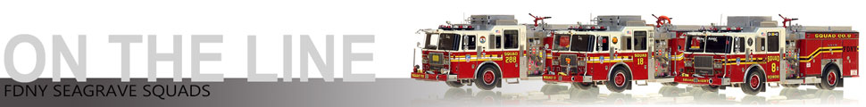 Assembly pictures of FDNY Seagrave Squads 8, 18 and 288 scale models
