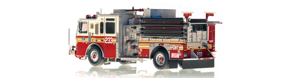 FDNY Engine 233 is hand-crafted using over 475 parts.