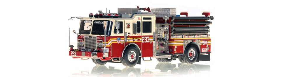 FDNY Engine 233 replica features razor sharp accuracy