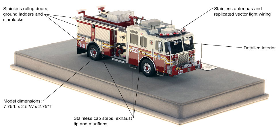 Specs and features of FDNY KME Engine 233