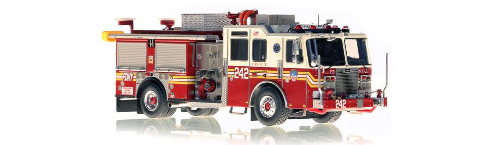 FDNY Engine 242 replica features razor sharp accuracy