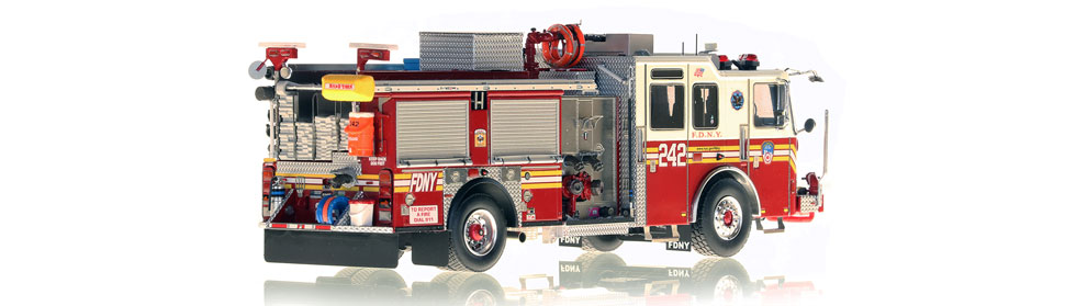 FDNY Engine 242 is hand-crafted using over 475 parts.