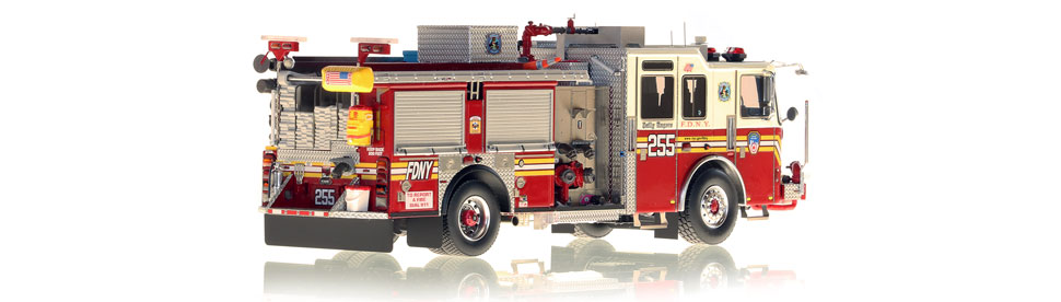 FDNY Engine 255 is hand-crafted using over 475 parts.
