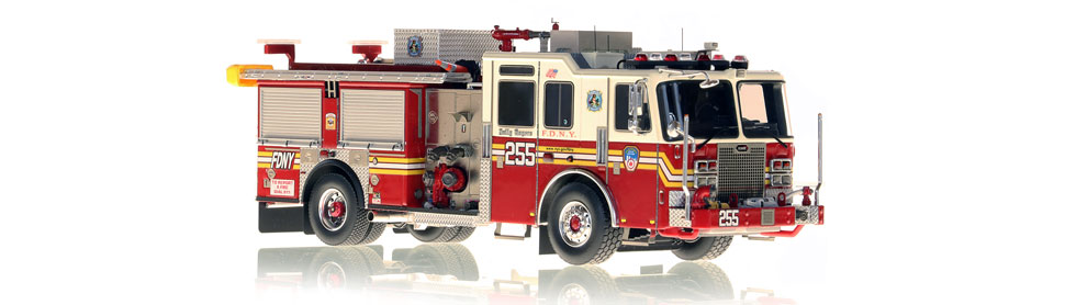 FDNY Engine 255 replica features razor sharp accuracy