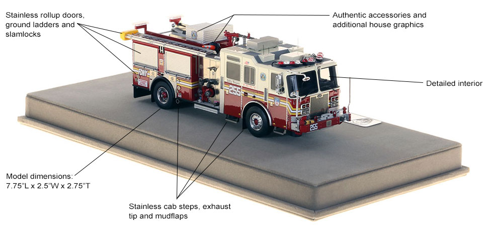 Specs and features of FDNY KME Engine 255