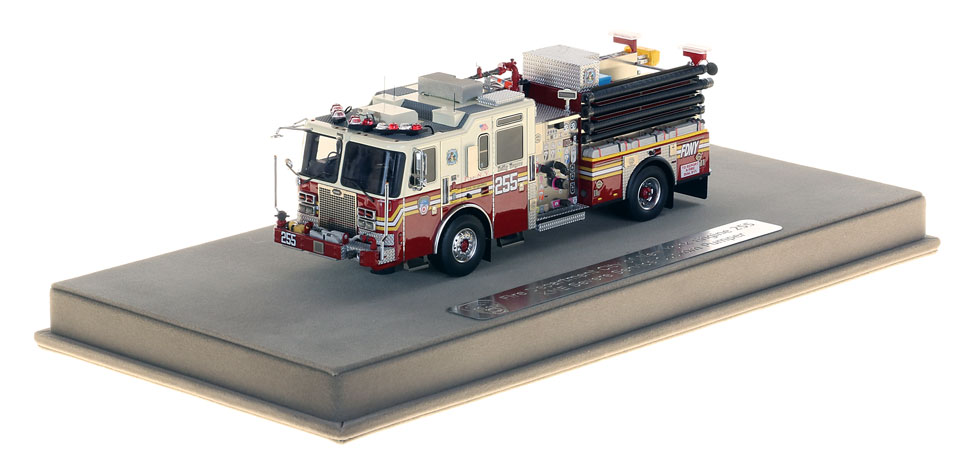 FDNY Engine 255 includes a fully custom display case.
